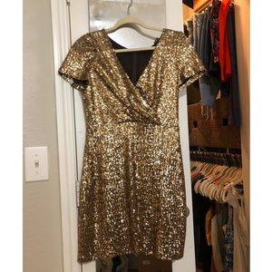 Dresses & Skirts - Gold Sequin Party Dress